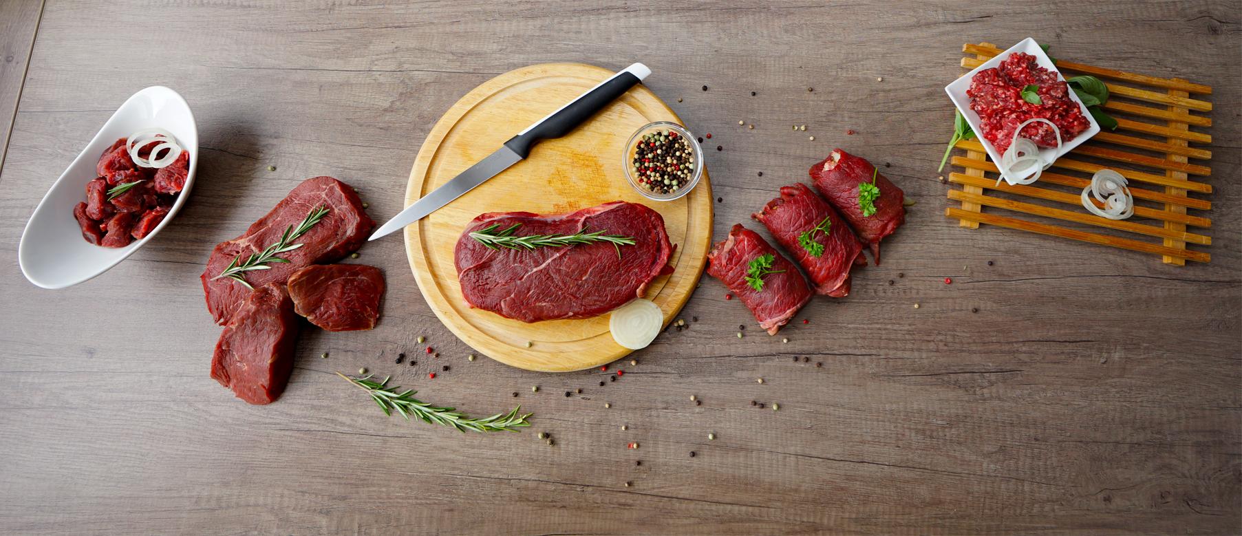 Übersicht vom Fleisch